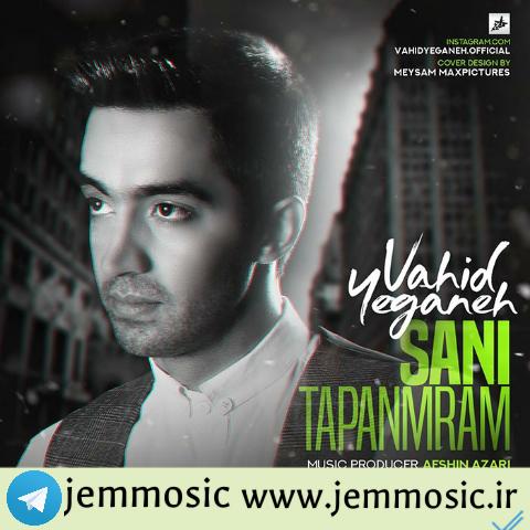 دانلود آهنگ جدید وحید یگانه به نام تاپانمیرام